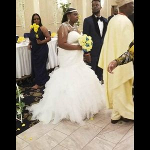 David's Bridal Dresses - Selling my wedding dress underskirt belt and tiara